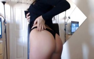 Stunning dark-haired ex-girlfriend playing with sex toys
