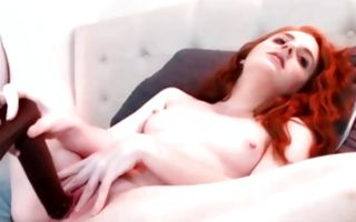 Hot redhead girlfriend nicely playing with tight juicy snatch