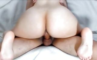 Fabulous GF with round booty has rough sex after blowjob