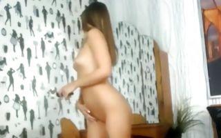Horny amateur floosie with hot body masturbating juicy slit
