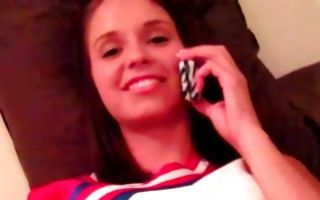 Pretty young girlfriend Hayden Winters making deep blowjob