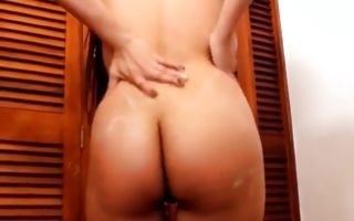 Watch my GF with big booty insanely riding on heavy dick