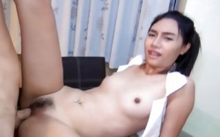 Naughty Asian ex-girlfriend has painful sex with dude