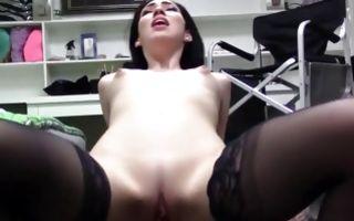 Adorable brunette GF Aria Alexander has deep painful sex