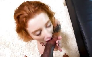 Nasty Ex-GF Melissa sucking big black rod before deep sex