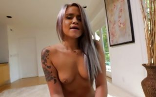 Hot ex-girlfriend Cedella insanely riding on heavy schlong