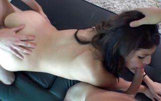 Terrific brunette Ex-GF Vanessa has cruel threesome sex