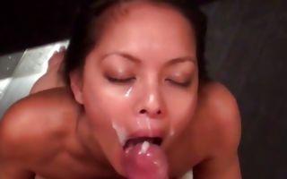 Painful deep anal sex with stunning brunette ex-girlfriend