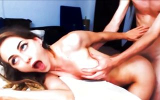 Adorable GF with sexy body deeply fucked in juicy snatch